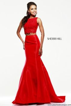 Two piece Sherri Hill Prom Dress 21372