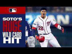 Juan Soto puts Nationals ahead with HUGE single that clears the bases Washington Nationals Baseball, Card Games, Champion, Baseball Cards, Mlb, Sports, Youtube, Urban, Musica