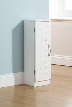 Beautiful Malham Bathroom Slim Cupboard In White