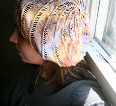 Reverie by Amy M Swenson.  Knitty issue Spring '09.  Slouchy Tam, nice spiral effect!