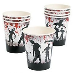Zombie Party Supplies, Zombie Cups, Zombies Party Cups, Zombie Cups
