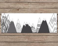 Mountain Range Printable - INSTANT DOWNLOAD Printable - Mountain Printable - Landscape Printable - Mountain Art - Outdoor Nursery by CraftMei on Etsy https://www.etsy.com/listing/201200927/mountain-range-printable-instant