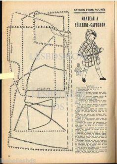 Doc-Clipping-Ref-Rim-99-12-1955-PATRON-POUPEE-MIREILLE-MANTEAU-PELERINE1page