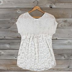 Thunderstorm Lace Blouse, Sweet Bohemian Clothing >> This is so cute!