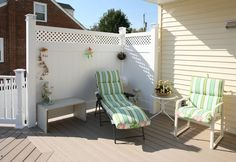 deck privacy wall | ... Project Gallery / Porches, Decks, Sunrooms / Azek Deck / Privacy wallS