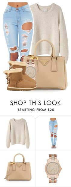 """Depending on how I be feelin'.You'll see what My heart's revelaing."" by bria-myell ❤ liked on Polyvore featuring La Garçonne Moderne, Prada, Merona, UGG Australia, women's clothing, women's fashion, women, female, woman and misses"