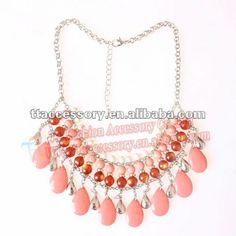 2013 de última moda briolette rosa collar moldeado bib venta al por mayor-Collares-Identificación del producto:672788967-spanish.alibaba.com