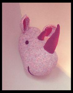 Trophée rhinocéros crochet La Fée kitss sur facebook