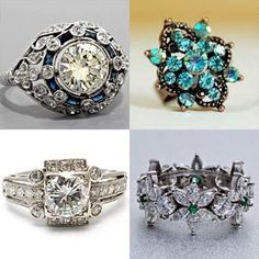 Fashion-UK: Vintage Style Engagement Rings