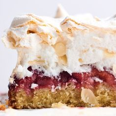 Louise cake with plum and coconut (SWEET pg 173)