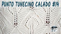 Punto calado tunecino #14 - Hojas - Crochet tunecino - Tutorial paso a paso - YouTube