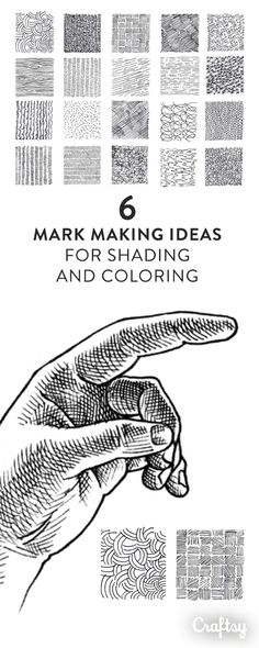 These creative mark making ideas will allow you to try something new using drawing techniques you probably already know. On Craftsy!