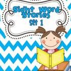 Sight Word Stories are stories that use sight words and repetition.   Set one uses the first 25 words on the Fry Word List.  There are two choice...
