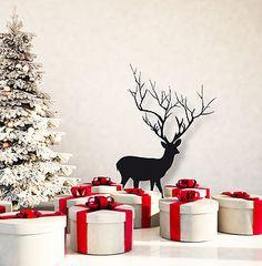 Christmas Deer Wall Sticker Decoration
