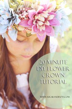Sugar and Dots: 20 minute DIY Flower Crown Tutorial