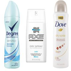 Free Sample of Degree, Dove or Axe Dry Spray Antiperspirant