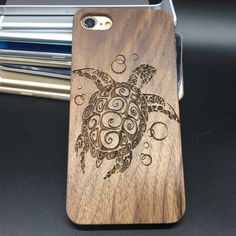 sea turtle wooden phone case #wood #wooden #phone #case #seaturtle #turtle #tatoo