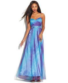 Love this: Juniors Sleeveless Ombre Glitter Dress @Lyst