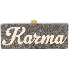 Edie Parker Flavia Karma Clutch (41 580 UAH) ❤ liked on Polyvore featuring bags, handbags, clutches, metallic, edie parker clutches, edie parker, edie parker handbags, metallic handbags and metallic clutches