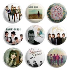 Panic At The Disco Pinback Button Pin Badge (Pack of 9)- 1 inch