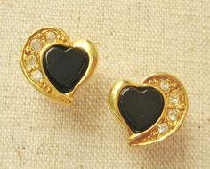 Avon Heart Earrings Vintage Pierced Earrings Avon Jewelry