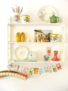 dottie angel's cute shelf. i swoon over her all day long.