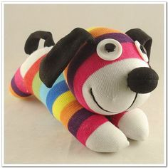 Handmade Sock Dog Stuffed Animal Doll Baby by supersockmonkeys, $11.99