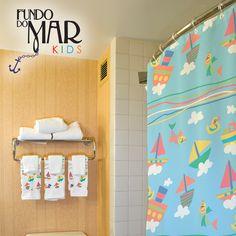 Estampa Fundo do Mar Kids aplicada em utensílios para banho. Disponível em nosso acervo.  Para solicitar essa e/ou outras estampas entre em contato pelo e-mail: contato@estudiolabart.com.br