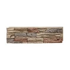 GenStone Stacked Stone Kenai 12 in. x 42 in. Faux Stone Siding Panel-G2SSKIHP - The Home Depot Stone Siding Panels, Faux Stone Siding, Faux Stone Walls, Stone Veneer Panels, Home Depot, Faux Stone Veneer, Stacked Stone Panels, Dry Stack Stone, Brick Paneling