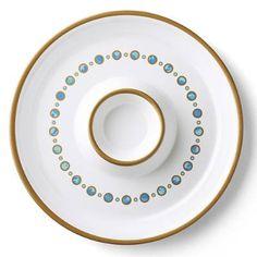 Donatella Capri Melamine Dinner Plates, Set of Four - Frontgate