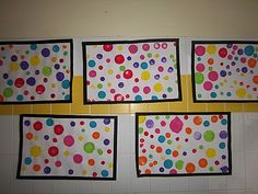 Kusama chez Marie: tribune libre - école petite section Yayoi Kusama, Art Lessons For Kids, Art For Kids, Classe D'art, 2nd Grade Art, Coin Art, Petite Section, Circle Art, Kindergarten Art