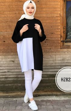 Hijab Fashion Summer, Modest Fashion Hijab, Modern Hijab Fashion, Frock Fashion, Street Hijab Fashion, Islamic Fashion, Muslim Fashion, Hijab Style Dress, Casual Hijab Outfit