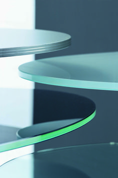 Segis | #Ellipse Tables, Bartoli Design. Available in three different heights with base in die casting #aluminium and column in aluminium elliptical tube.