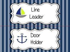 nautical classroom jobs charts - Google Search