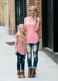 Little Girls Criss Cross Top, Matching Mommy and Me Outfits, Ryleigh Rue Clothing, Spring Fashion, Online Shopping Mother Daughter Fashion, Mother Daughter Matching Outfits, Mommy And Me Outfits, Family Outfits, Kids Outfits, Cute Outfits, Mother Daughters, Mother Daughter Photography, Kind Mode