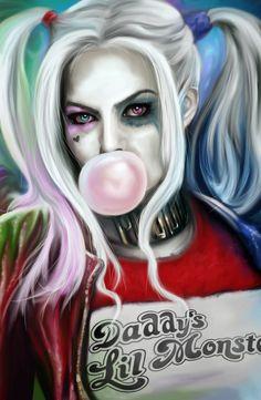 Harley Quinn Tattoo, Harley Quinn Drawing, Joker And Harley Quinn, Joker 3d Wallpaper, Evvi Art, Harely Quinn, Gothic Fantasy Art, Joker Art, Dc Comics Art