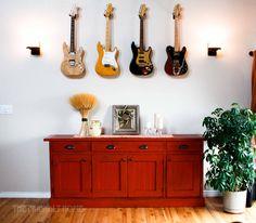 Rustic Planked Wood Sideboard