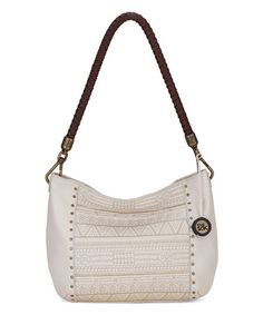 Look what I found on #zulily! Stone Geometric Quilt Indio Leather Hobo #zulilyfinds