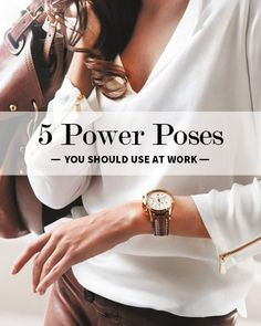 Body Language is everything. 5 Power Poses You Should Use at Work. - we just talked about this in my professional issues course, on leadership Career Development, Professional Development, Personal Development, Young Professional, Coaching, Business Mode, Business Ideas, Business Quotes, Business Leaders