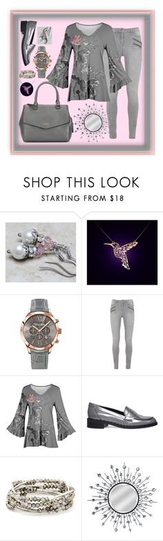 """Pewter + Pink = Love"" by aurorasblueheaven ❤ liked on Polyvore featuring Thomas Sabo, Simply Aster, Fiorelli, Carvela, Chrysalis and Home Decorators Collection"