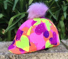 Purple Heart pattern with Pom Pom Helmet Covers, Heart Patterns, Christmas Bulbs, Birthdays, Neon, Purple, Holiday Decor, Christmas Light Bulbs, Birthday