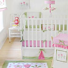 "My Baby Sam Tickled Pink 4 Piece Crib Bedding Set - My Baby Sam - Babies ""R"" Us $140.99"