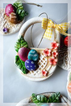 Salt Dough Easter Basket