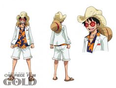 ONE PIECE GOLD Le film : Le look des personnages