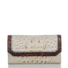 Mother's Day gifts: Soft Checkbook Wallet - Linen Tri-Color
