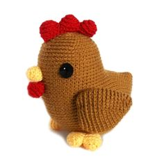 chicken amigurumi, very cute :) Crochet Birds, Easter Crochet, Crochet Animals, Crochet Crafts, Yarn Crafts, Crochet Toys, Crochet Projects, Knit Crochet, Chicken Pattern