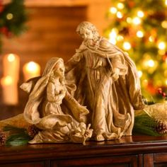 Gold Leaf Holy Family Statue, 18 in. | Kirkland's