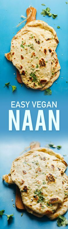 FLUFFY, Perfect Vegan Naan with just 7 ingredients! Perfect for curries, soups, and more! #vegan #plantbased #naan #recipe #bread #minimalistbaker
