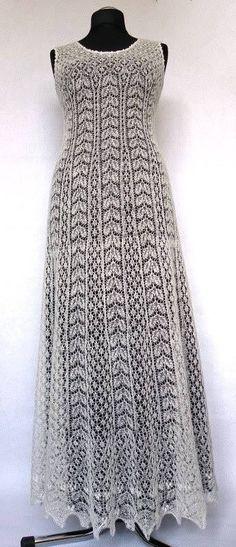Traje de novia de Liina Rees, tejido en encale de Estonia.