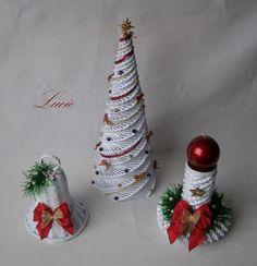 Trocha vánoční dekorace - Papírové pletení
